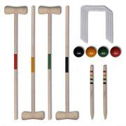 vidaXL Set de croquet en bois 4 joueur