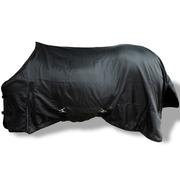vidaXL Toison double couches avec sursangles 115 cm Noir