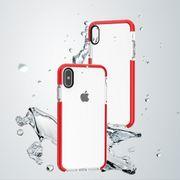 Coque housse pour iphone XS De basket-ball de la Texture Anti-collision de Cas de TPU pour l'iPhone XS Max(Rouge)