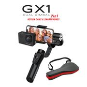Stabilisateur électrique Bluetooth/Wifi  2 en 1 pour smartphones et caméras sport GX1