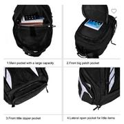 Vbiger 32L Durable Nylon Lightweight Teenager Travel Sports Daypack Sac à dos scolaire College Bookbag