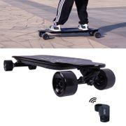 COOL&FUN Longboard Skateboard Électrique 4 Roues, Planche à Roulettes, Batterie LG avec télécommande Léopart Noir<br/>