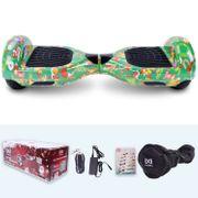 Cool&fun Hoverboard Gyropode avec Bluetooth, Design Sapin de Noël 6.5 Pouces, Sac De Transport + Télécomande+Bluetooth+Protection orange