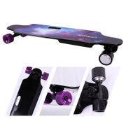 COOL&FUN Longboard Skateboard Électrique 4 Roues, Planche à Roulettes, Batterie LG avec télécommande, Design d'étoiles