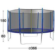 TRIGANO Trampoline avec filet de sécurité 366 cm J-JOU078