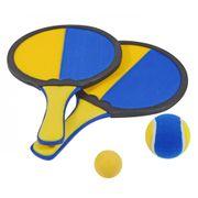 Hudora Beach - Velcro Jeu De Balle - Set De Catchball - 4 Pièces