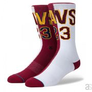 Chaussettes NBA Stance Arena Lebron James Split Jersey Rouge taille - M