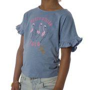 Camillia Fille Tee-Shirt Bleu Lulu Castagnette