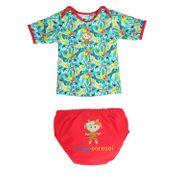 Amazonie Mayo Parasol Ensemble tee-shirt anti uv et couche piscine bébé