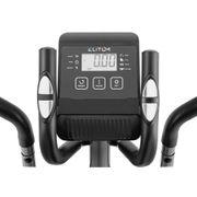 ELITUM Vélo elliptique MX300 avec Ordinateur, capteurs d'impulsion Masse inertie 9 kg (Argenté)