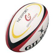 BALLON DE RUGBY  Ballon de rugby REPLICA - Gwent Dragons - Taille Midi