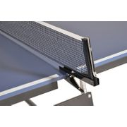 Table de Ping Pong pliable à roulettes - Bleue - 274 x 152.5 x 76 cm - Tennis de table - Avec Filet, 2 Raquettes et 3 Balles
