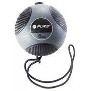 Pure2Improve Ballon médicinal avec corde 6 kg Gris
