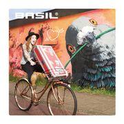 Panier noir Robin 27L sur fourche vélo Basil
