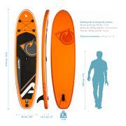 Paddle gonflable CRUISER 10'2 (310cm) 30'' (76cm) 5'' (12,7cm) - Stand up paddle avec dérive centale et support caméra, livré avec pompe, Pagaie et Sac de transport