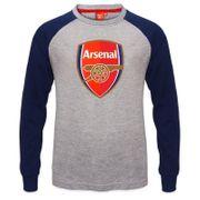 Arsenal FC officiel - T-shirt à manches longues raglan - thème football/avec blason - enfant
