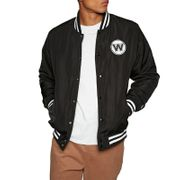 Bomber NBA Golden State Warriors New Era Team Apparel Jacket Noir pour Homme Taille - L