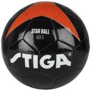 BALLON DE FOOTBALL  Ballon de football Star - Noir et orange - Taille 5