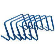 Precision Football Fitness Training Agility Flat Hurdles 12'' Blue (Set of 6)