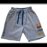 Short FC Barcelone enfant gris officiel