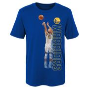 T-shirt NBA Stephen Curry Golden State Warriors Pixel pour enfants Bleu taille - 6 ans