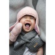BARTS-Bonnet naissance en fourrure polaire blanc ivoire bébé fille du 3 au 12 mois Barts