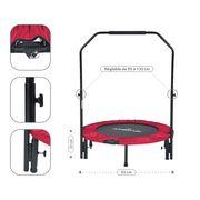 Mini Trampoline Fitness Jump4fun Pliable Door-Bar - Ø92cm, Rouge