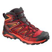 Chaussures de marche Salomon X Ultra 3 Mid GTX rouge noir