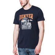 T-Shirt NFL Denver Broncos New Era Helmet Classic Bleu Navy pour homme taille - L