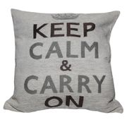 Housse de coussin Keep Calm and Carry on (coussin non-inclus)