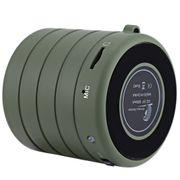 Mini enceinte Bluetooth 2.1 modèle Roue Musique Stéréo VERT Armé