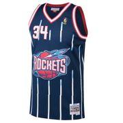 Maillot NBA Hakeem Olajuwon Houston 1996-97 Rockets Mitchell & ness Hardwood Classic swingman Bleu Marine taille - S
