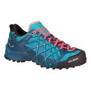 Chaussures Salewa Wildfire GTX bleu clair orange femme