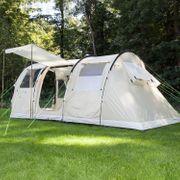 Gotland 4 - Tente familiale tunnel camping - 4 personnes - Tapis de sol cousu - 480 x 310 cm - Sable
