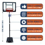 Panier de Basket BUMBER ORLANDO Hauteur réglable de 1.6m a 2.10m
