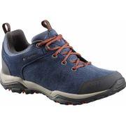 Columbia - Fire Venture Low Suede Waterproof Femmes chaussures de randonnée (bleu / rouge)