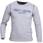 Tee Shirt Garà§on Teddy Smith Ticlass3 Ml Jr 61002684d 181q Gris / Indigo