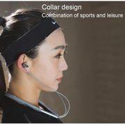 Écouteur bluetooth-Original  Mode Sport Bluetooth Cou Anneau de l'Écouteur Dans l'Oreille d'Écouteurs avec Micro Pour iPhone, Samsung,
