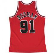 Maillot NBA swingman Denis Rodman Chicago Bulls Hardwood Classics Mitchell & ness Rouge taille - XXL