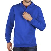 Sweat col polo homme