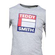 Tee Shirt Garçon Teddy Smith Tegis Ml Jr 61005860d 181 Gris Chine