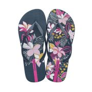 Tongs Ipanema Botanicals Bleu Marine et Rose