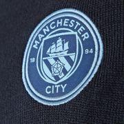 Manchester City FC officiel - Pull à col en V thème football - en tricot/avec blason - homme