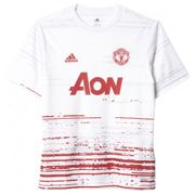 Maillot Entrainement Manchester United Blanc Football Garçon Adidas