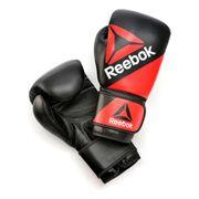 Gants Reebok Combat Leather Training Glove rouge noir 12 oz