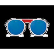 Vuarnet Ice Ronde Blanc Transparent Rouge/Grey Polar Blue Flash
