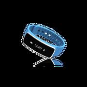 Bracelet connecté sport - Edition Discovery - bleu version Android est deja accessible en français. plateformes iOS/Android.l'application nommée « goband »