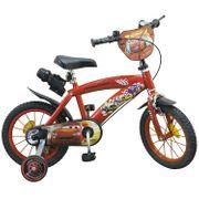 Vélo  14 Licence Cars pour enfant de 4 à 6 ans avec stabilisateurs à molettes