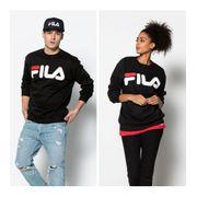 Sweat Crewneck Fila Classic Logo Sweater Noir Unisexe