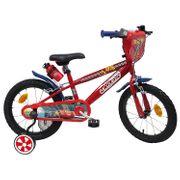 Vélo  16 Licence Cars 3 pour enfant de 5 à 7 ans avec stabilisateurs à molettes